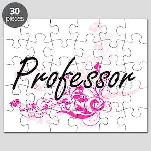 Professor Artistic Job Design with Flowers Puzzle