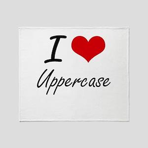 I love Uppercase Throw Blanket