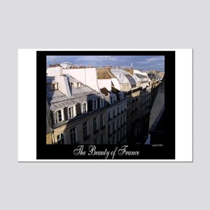The Rooftops of Paris Mini Poster Print