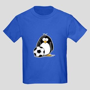 Soccer Penguin Kids Dark T-Shirt