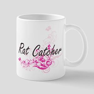Rat Catcher Artistic Job Design with Flowers Mugs