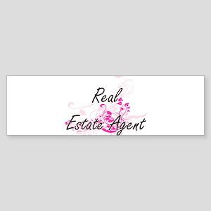 Real Estate Agent Artistic Job Desi Bumper Sticker