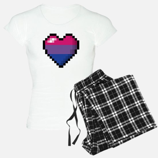 Bisexual Pixel Heart Pajamas