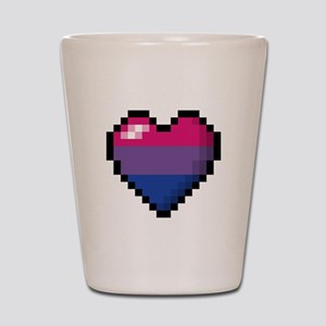 Bisexual Pixel Heart Shot Glass
