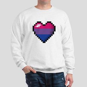 Bisexual Pixel Heart Sweatshirt