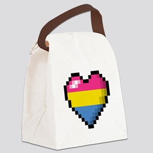 Pansexual Pixel Heart Canvas Lunch Bag