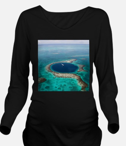 GREAT BLUE HOLE 1 Long Sleeve Maternity T-Shirt
