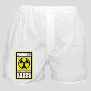 Warning Farts Boxer Shorts