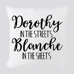 Dorothy Blanche Woven Throw Pillow