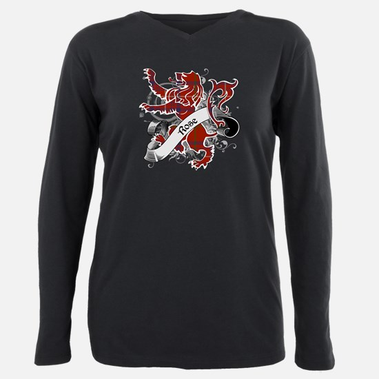 Rose Tartan Lion Plus Size Long Sleeve Tee