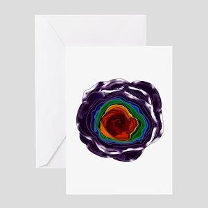 Rainbow Rose Greeting Card