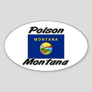 Polson Montana Oval Sticker