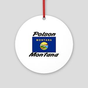 Polson Montana Ornament (Round)