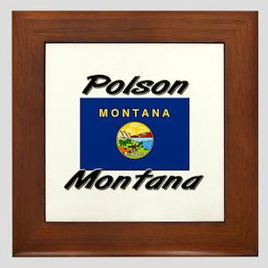 Polson Montana Framed Tile
