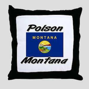 Polson Montana Throw Pillow