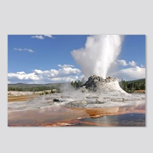 YELLOWSTONE CASTLE GEYSER Postcards (Package of 8)