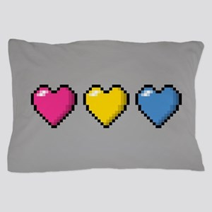 Pansexual Pixel Hearts Pillow Case
