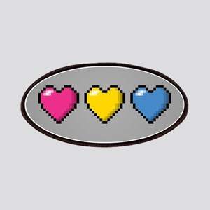 Pansexual Pixel Hearts Patch