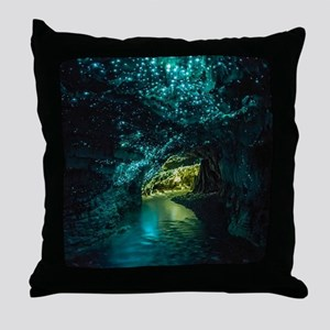 WAITOMO GLOWWORM CAVES Throw Pillow