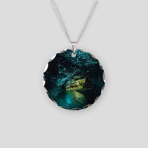 WAITOMO GLOWWORM CAVES Necklace Circle Charm