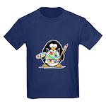Artist Penguin Kids Dark T-Shirt