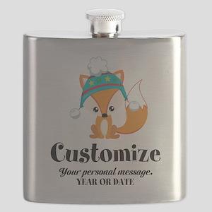 Custom Christmas Fox Flask