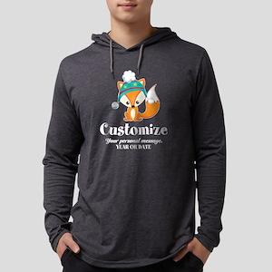 Custom Christmas Fox Mens Hooded Shirt