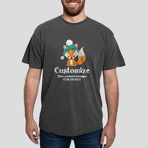 Custom Christmas Fox Mens Comfort Colors Shirt
