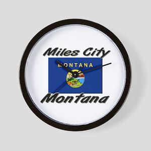 Miles City Montana Wall Clock