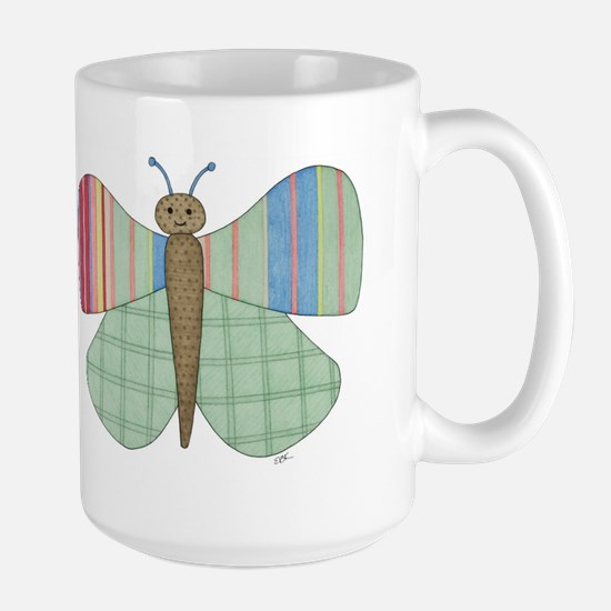 Mint Butterfly Large Mug