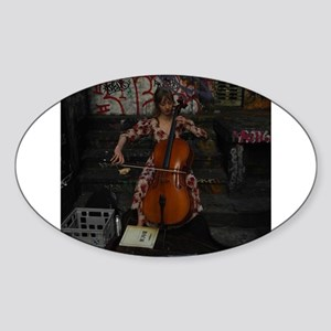 Cello Busker Sticker