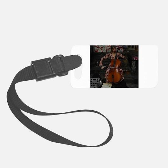 Cello Busker Luggage Tag