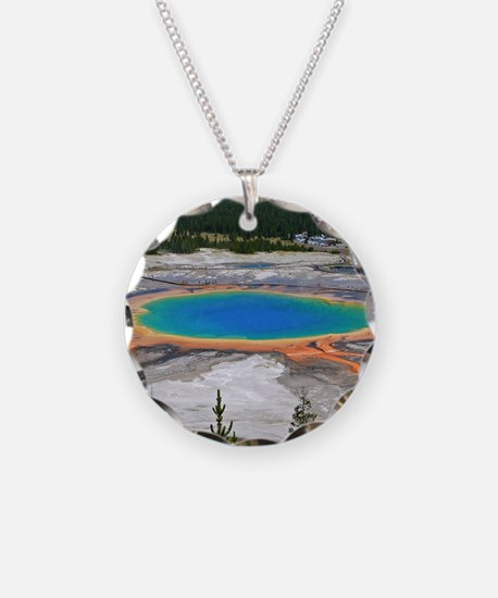 GRAND PRISMATIC SPRING Necklace Circle Charm