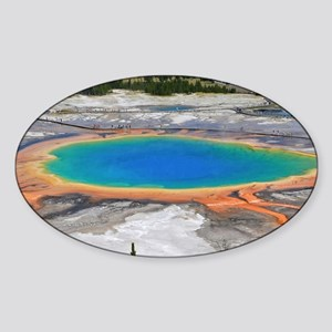 GRAND PRISMATIC SPRING Sticker (Oval)