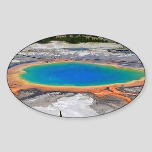 GRAND PRISMATIC SPRING Sticker (Oval)
