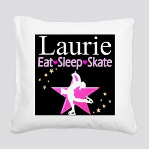 SPARKLING GYMNAST Square Canvas Pillow