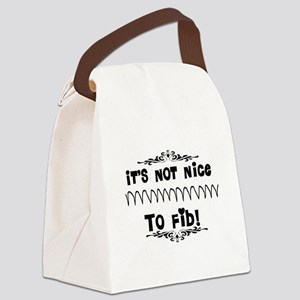 Cardiac V-Fib Humor Canvas Lunch Bag