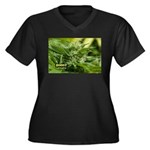 Boost (with Women's Plus Size V-Neck Dark T-Shirt