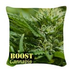 Boost (with name) Woven Throw Pillow