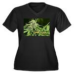 Cindy La Pew Women's Plus Size V-Neck Dark T-Shirt