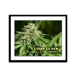 Cindy La Pew (with name) Framed Panel Print