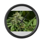 Cindy La Pew (with name) Large Wall Clock