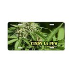 Cindy La Pew (with name) Aluminum License Plate