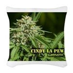 Cindy La Pew (with name) Woven Throw Pillow