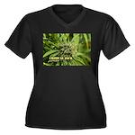 Critical Jac Women's Plus Size V-Neck Dark T-Shirt