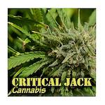 Critical Jack (with name) Tile Coaster