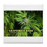 Grapefruit Kush (with name) Tile Coaster