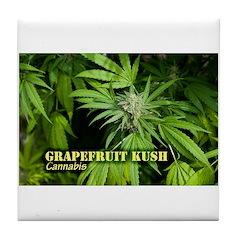 Grapefruit Kush (with name) Tile Coaster