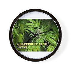 Grapefruit Kush (with name) Wall Clock