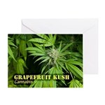 Grapefruit Kush (with name) Greeting Card